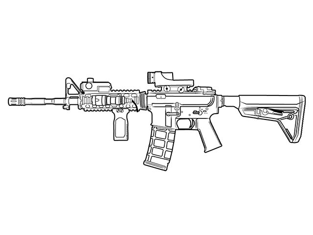 similiar rifle line drawing keywords